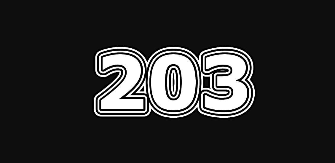 Significado del número 203