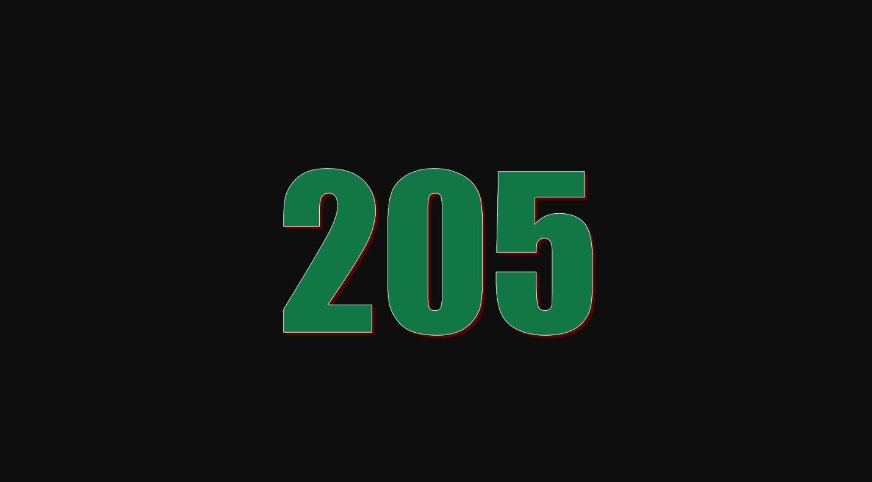 Significado del número 205