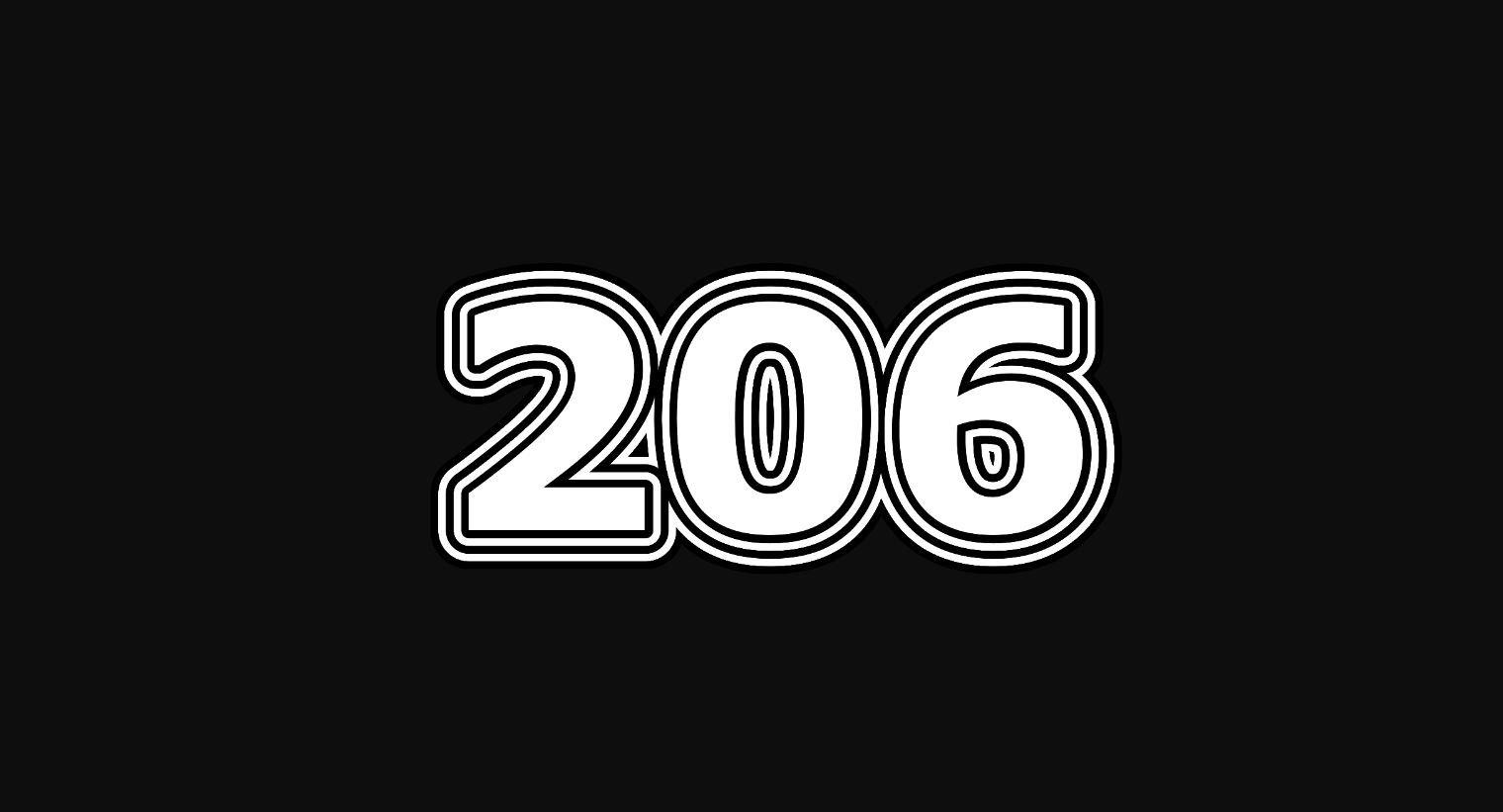 Significado del número 206