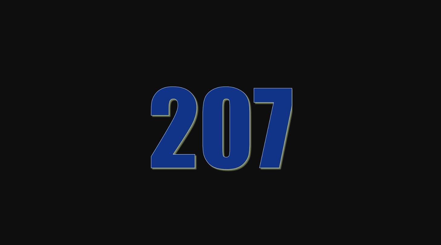 Significado del número 207
