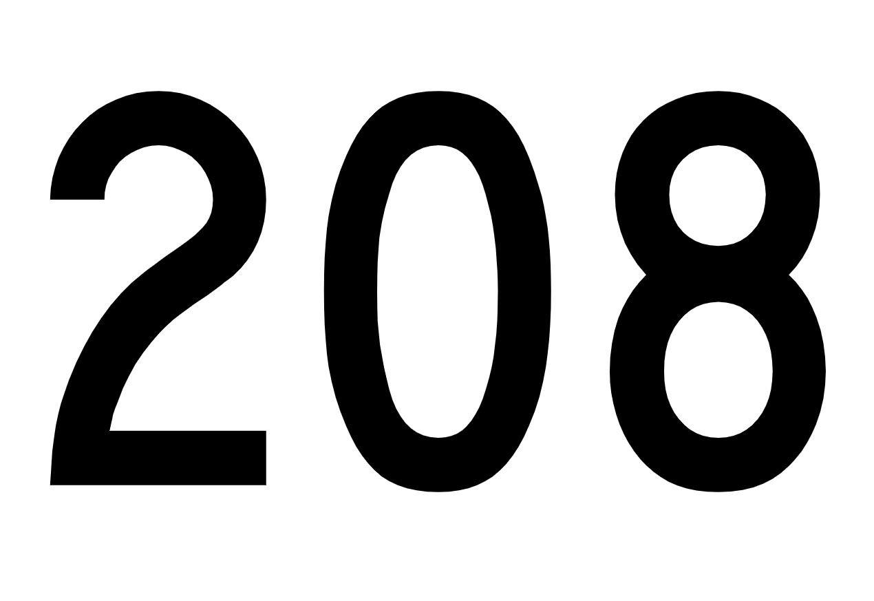 Significado del número 208