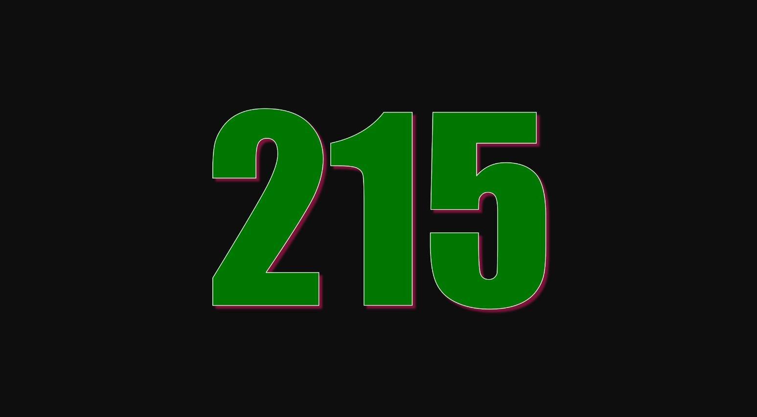 Significado del número 215
