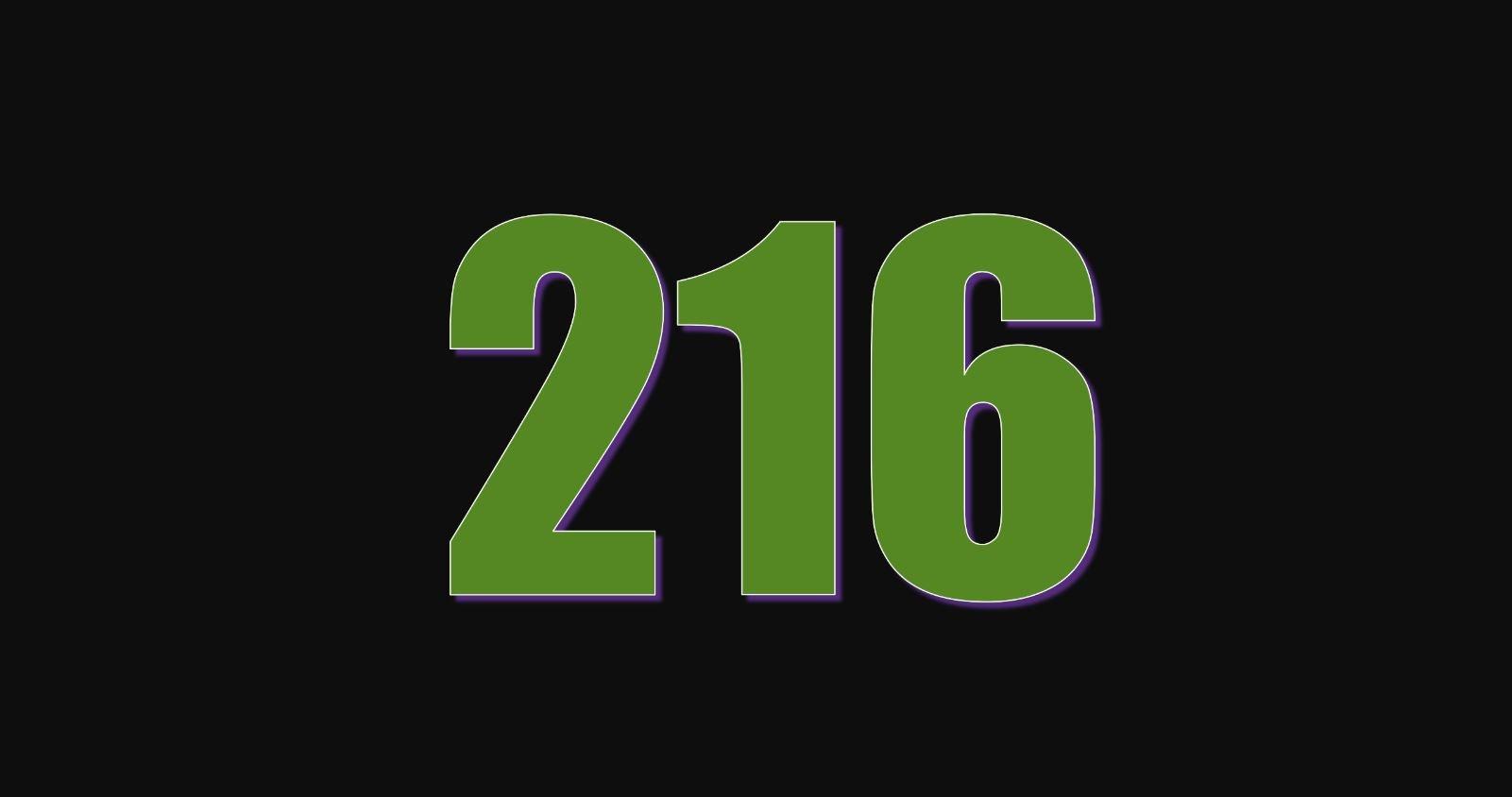 Significado del número 216