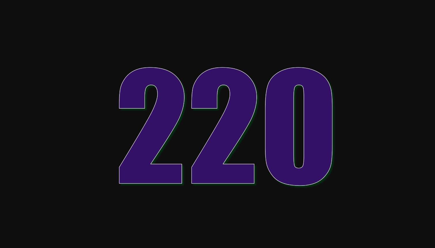 Significado del número 220