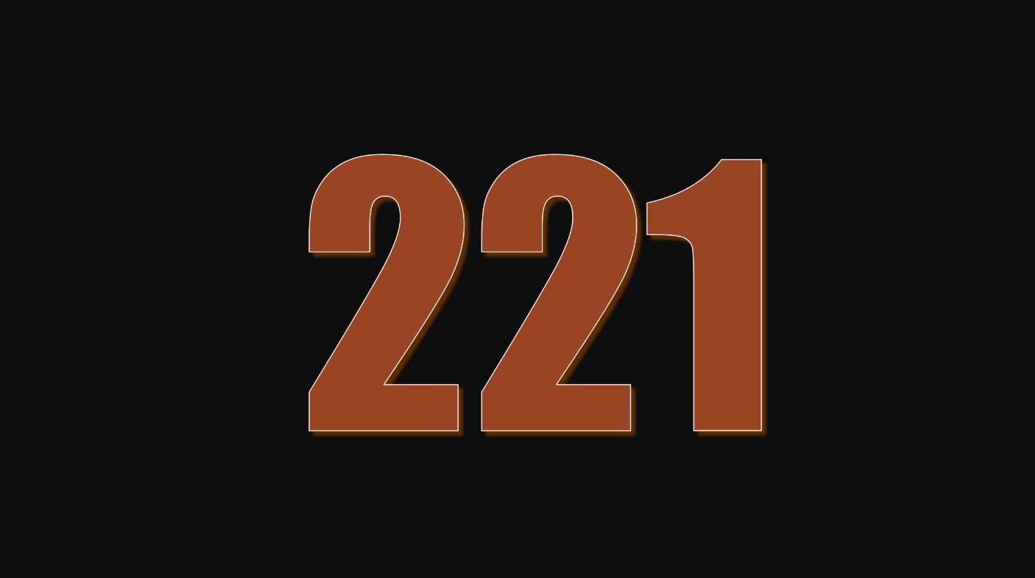 Significado del número 221