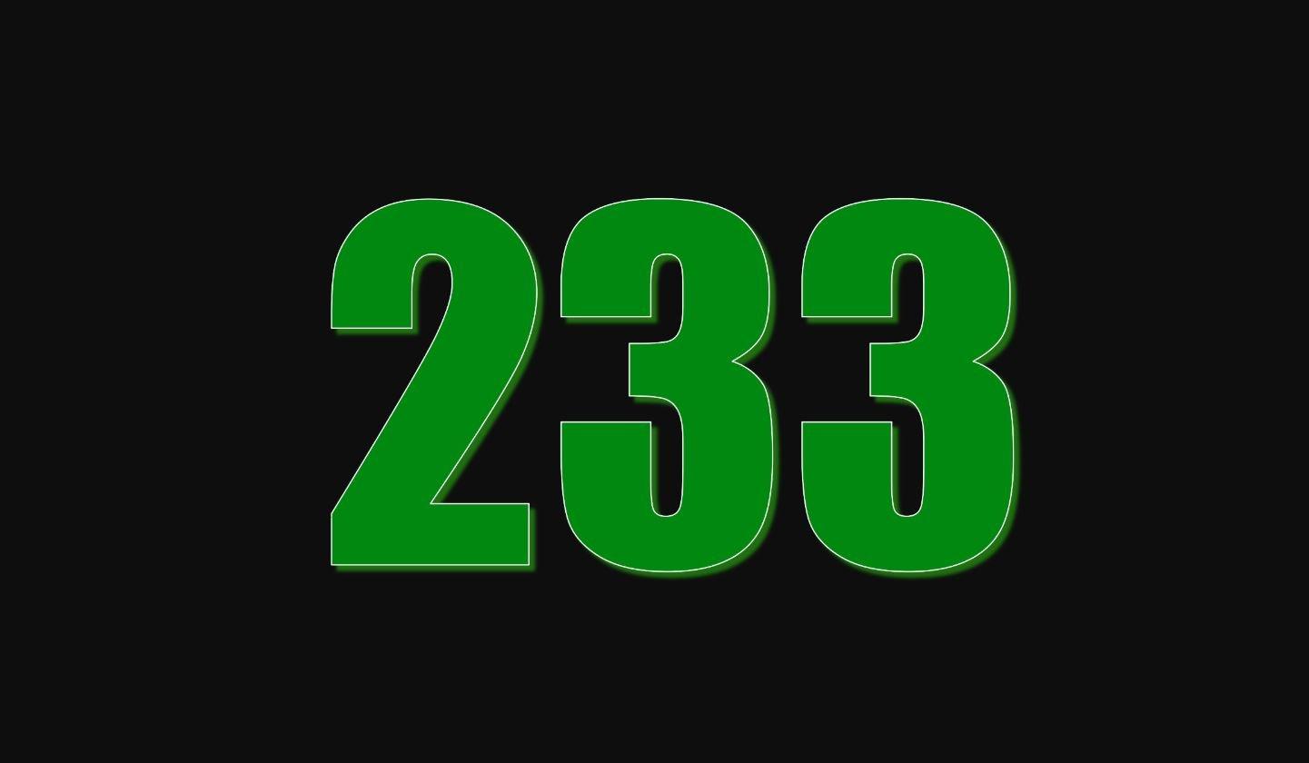Significado del número 233