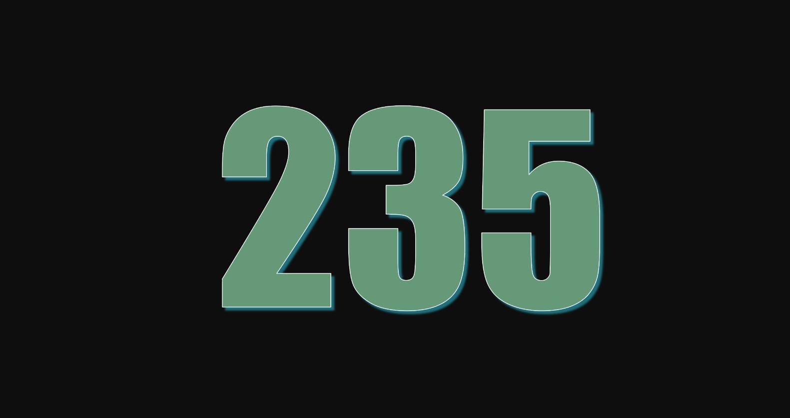 Significado del número 235