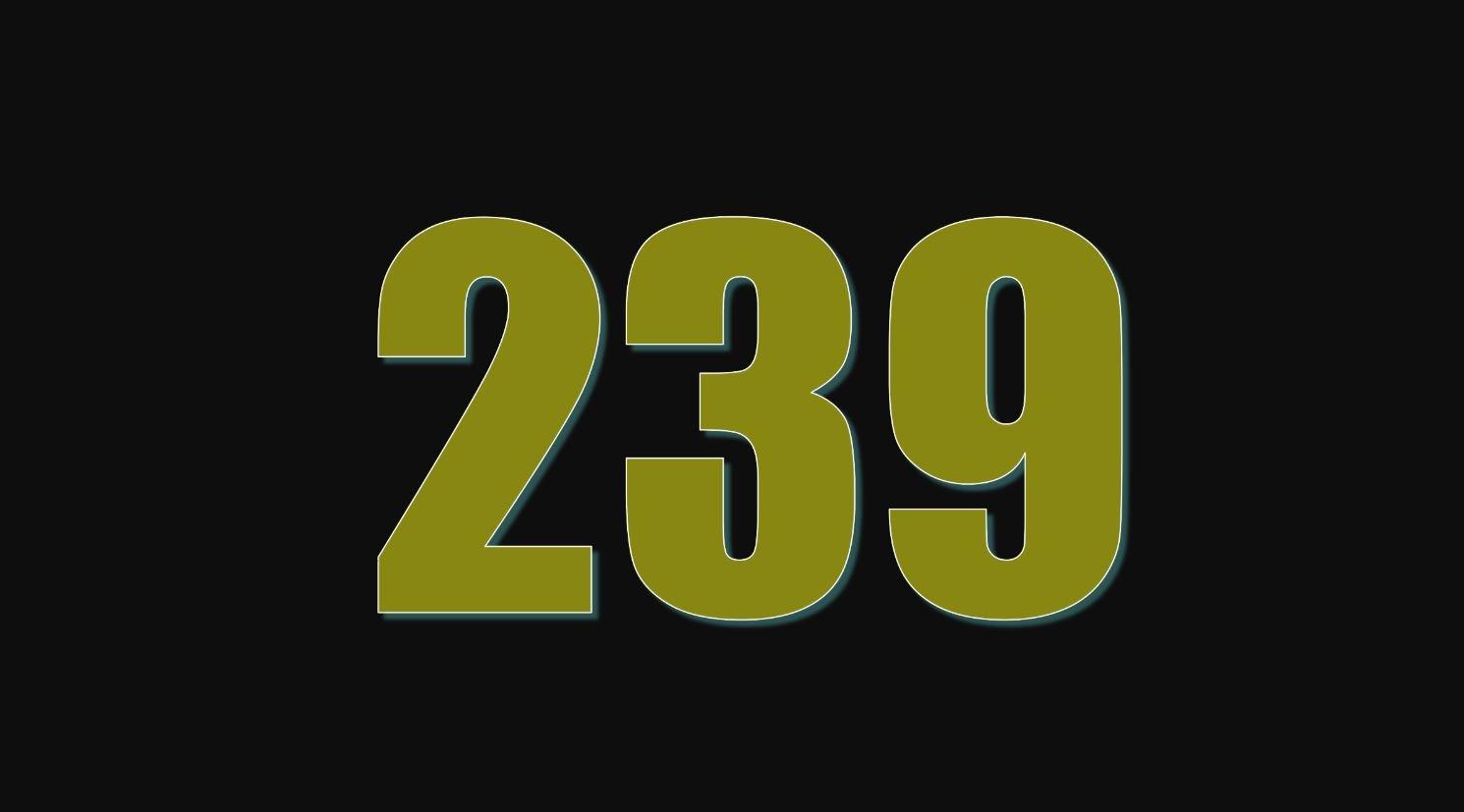 Significado del número 239