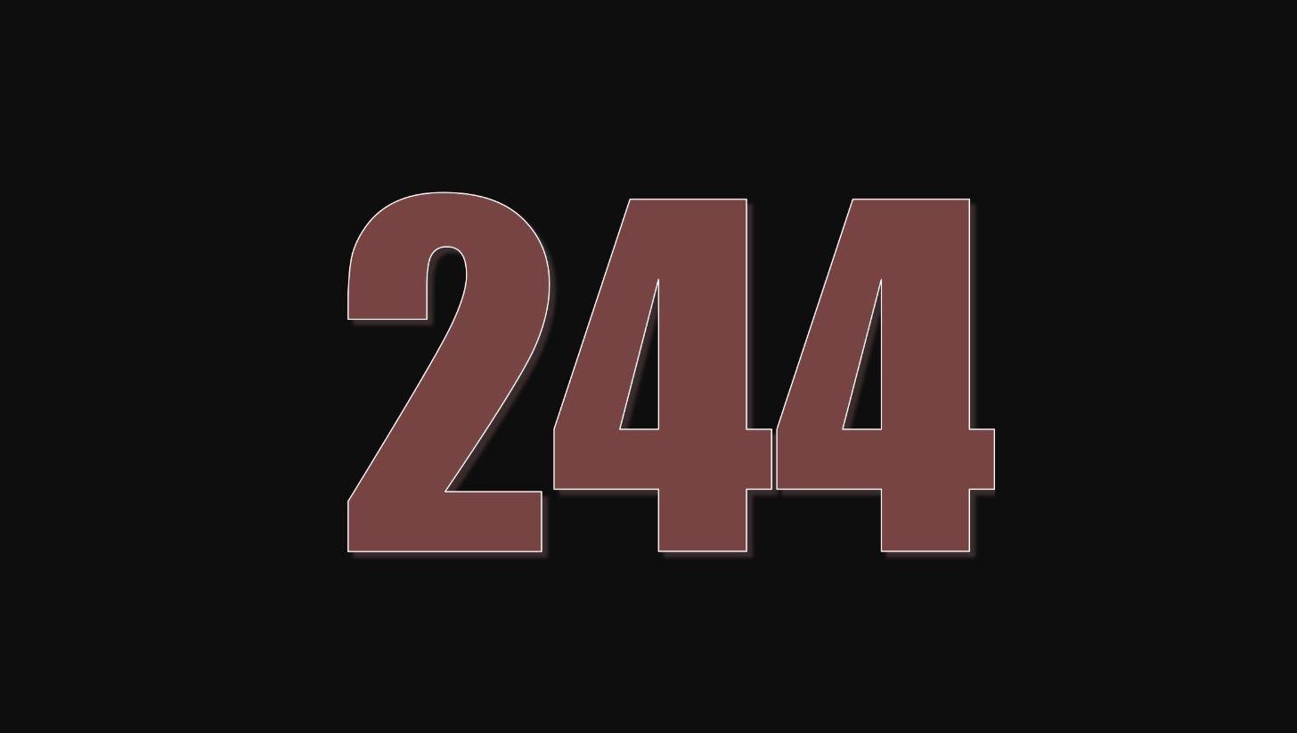 Significado del número 244