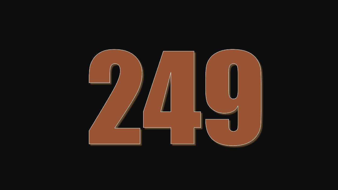 Significado del número 249