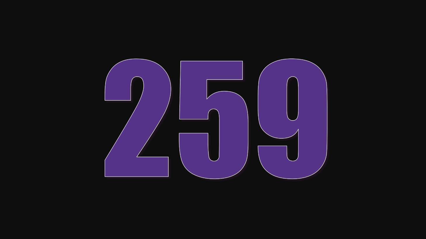 Significado del número 259