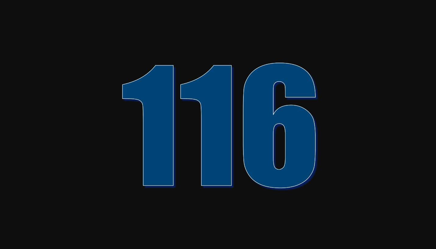 Significado del número 116