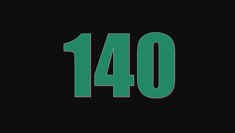 Significado del número 140