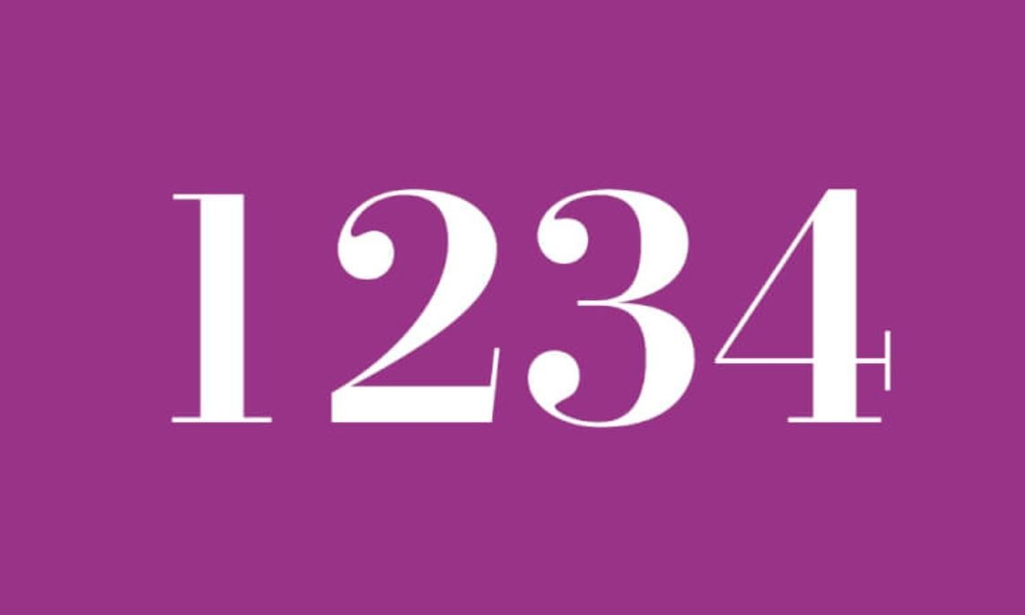 Significado del número 1234