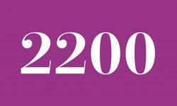 Significado del número 2200: Interpretación de la numerología