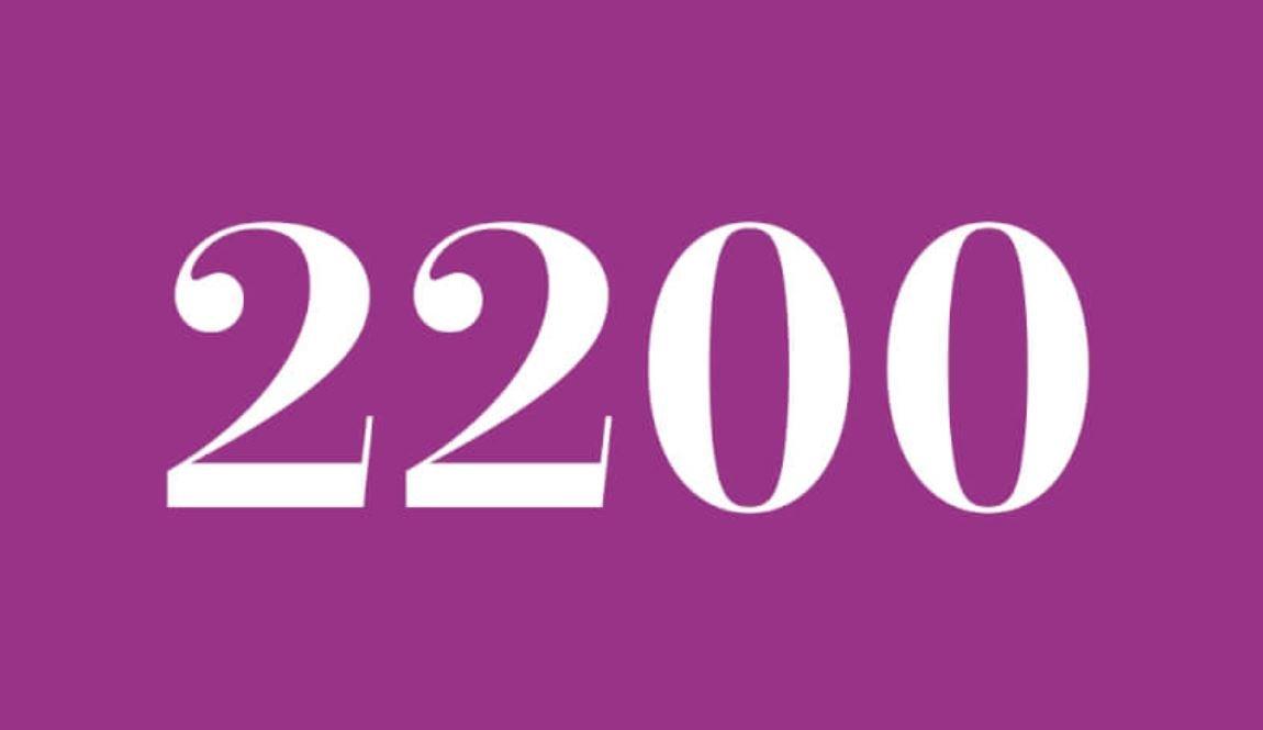 Significado del número 2200