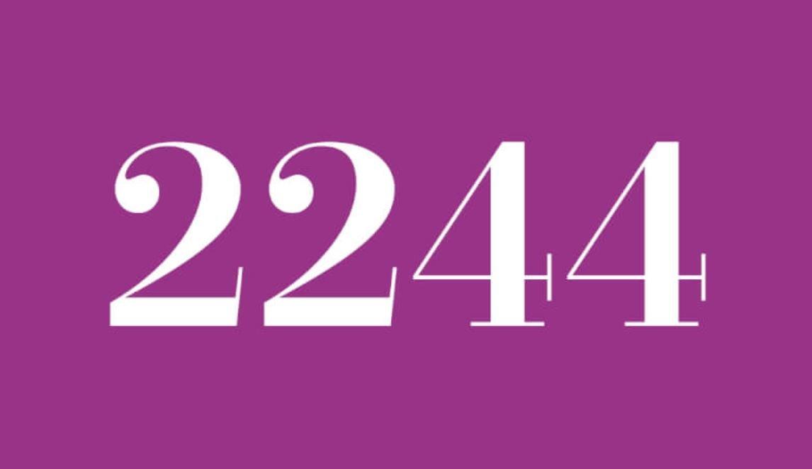 Significado del número 2244