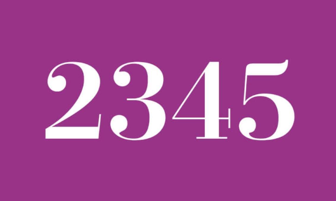 Significado del número 2345