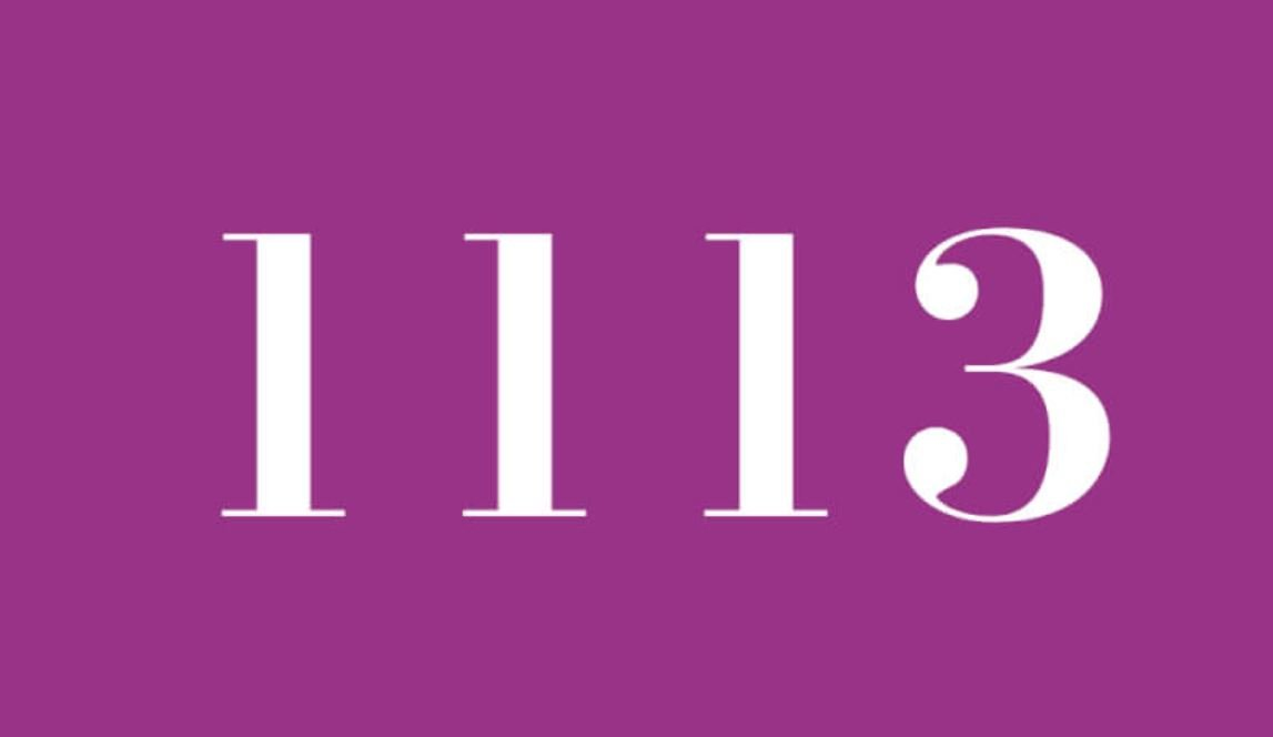 Significado del número 1113