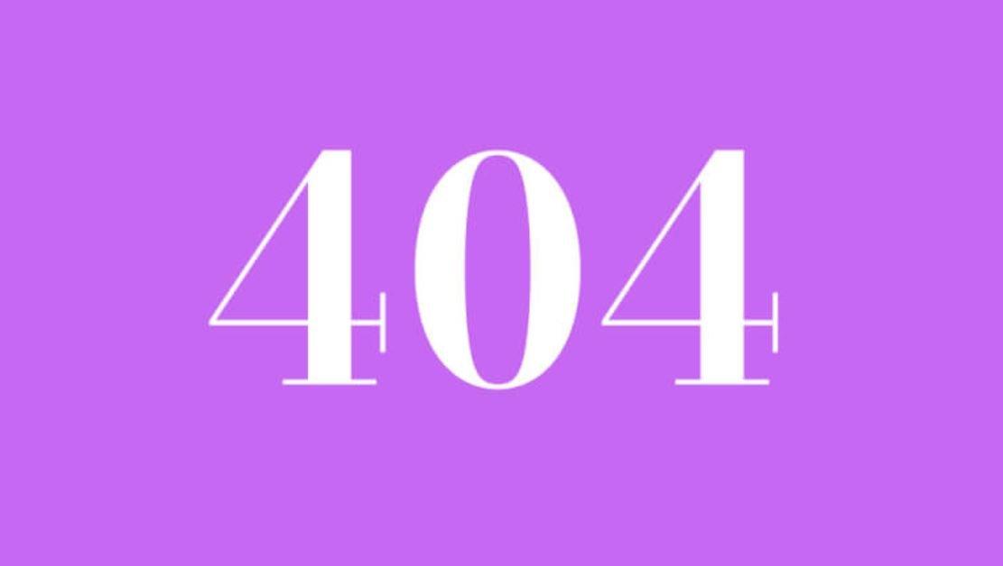 Significado del número 404