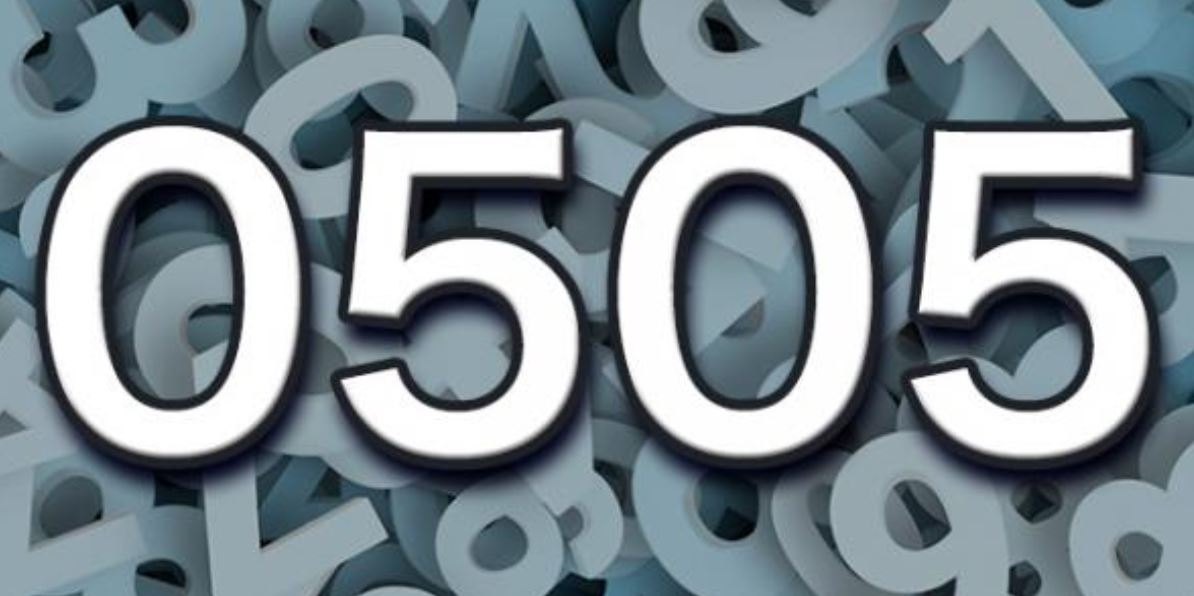 Significado del número 0505