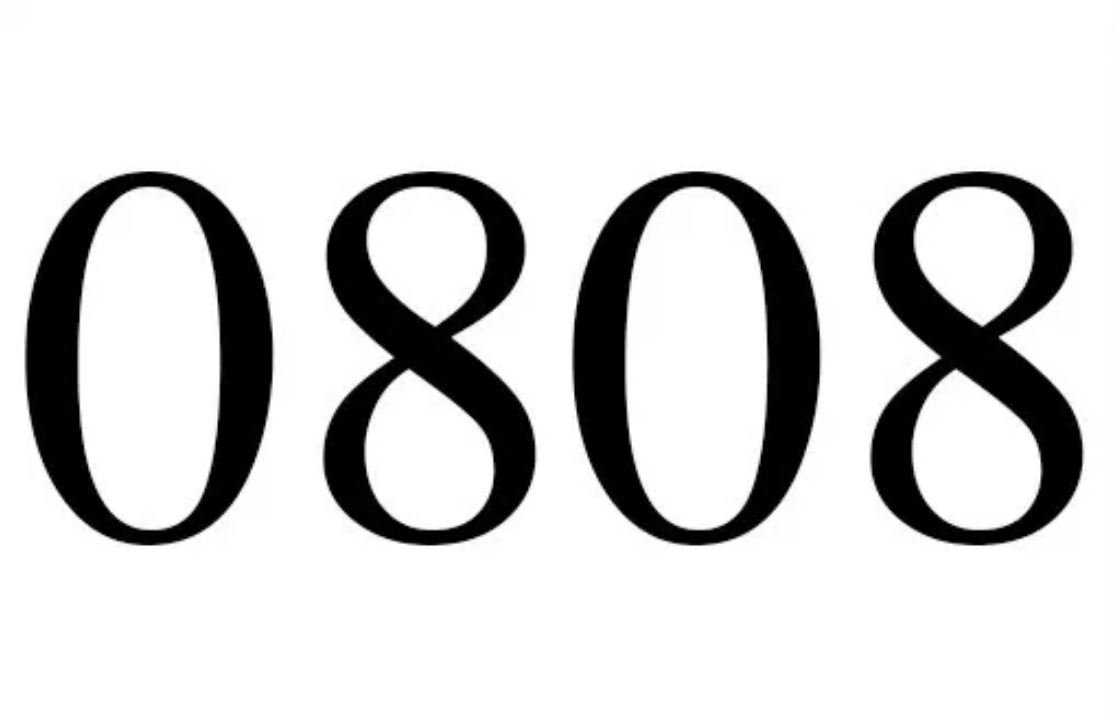 Significado del número 0808