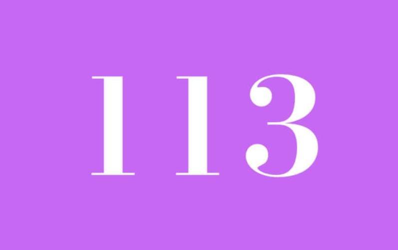 El número angelical 113