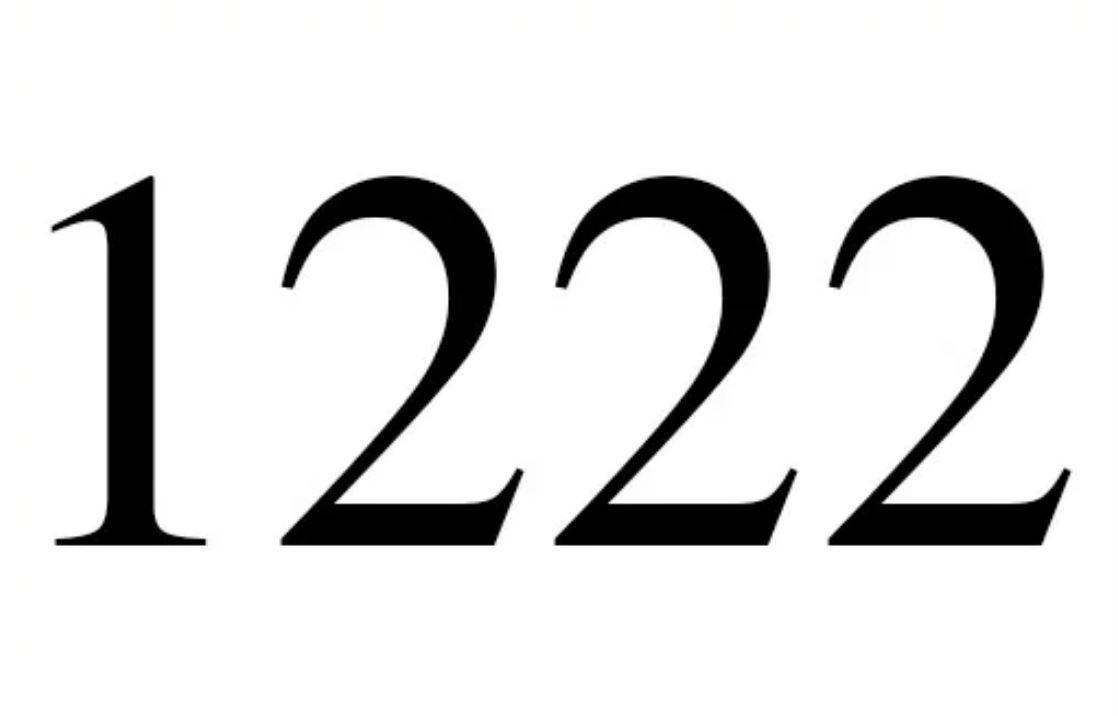 El número angelical 1222