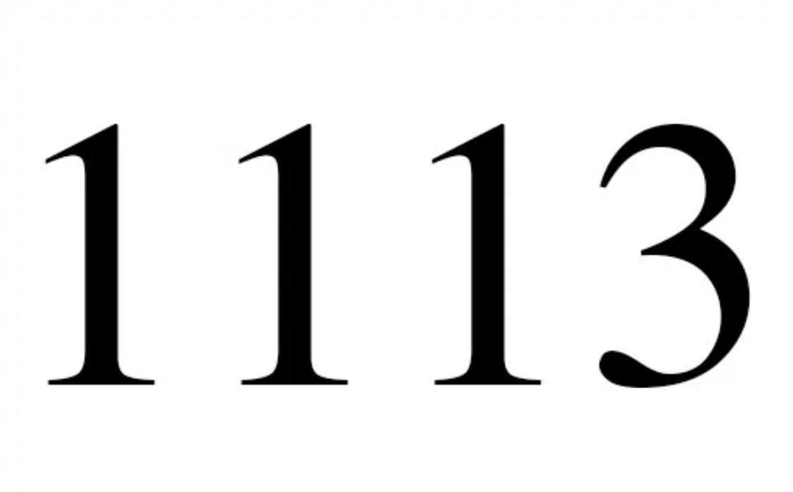 El número angelical 1113