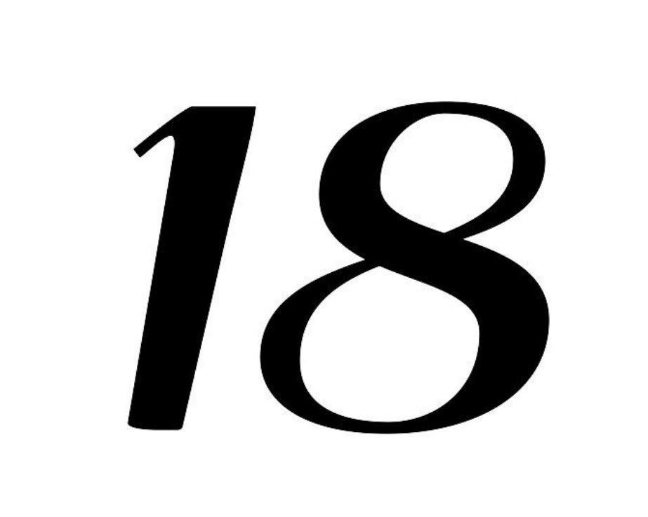 El número angelical 18
