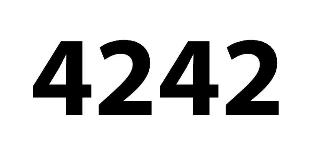 El número angelical 4242