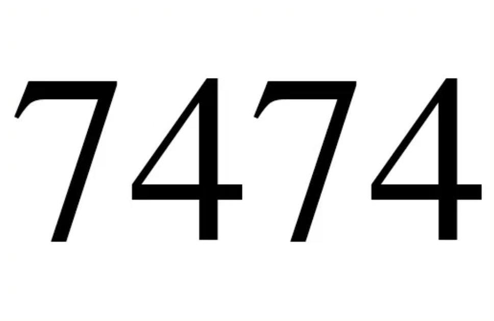 El número angelical 7474