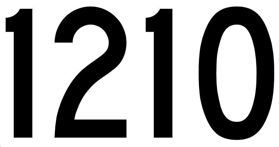 El número angelical 1210