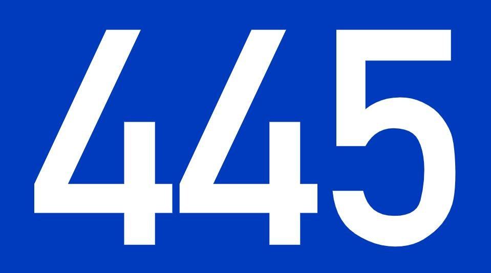 El número angelical 445