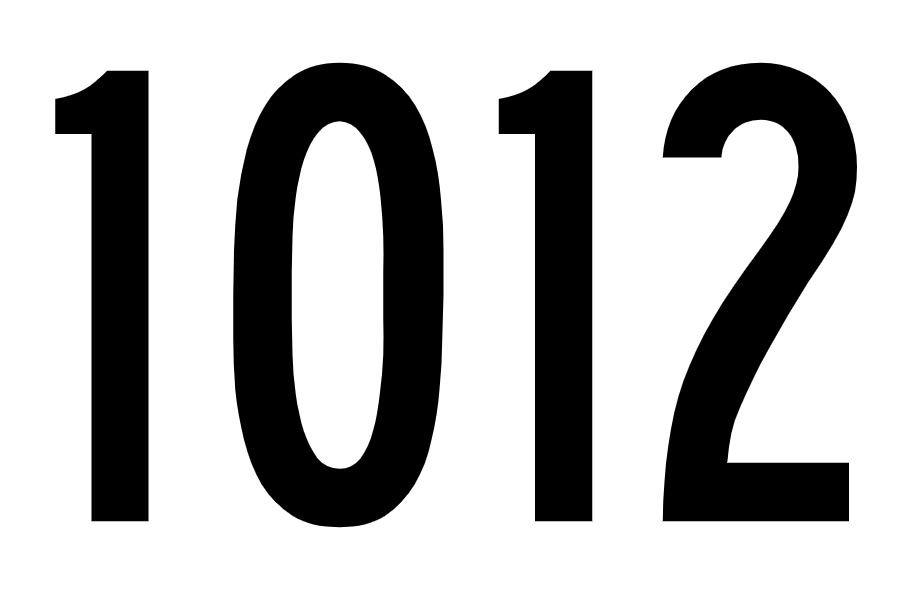 El número angelical 1012