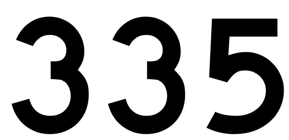 El número angelical 335