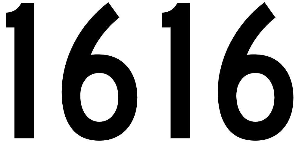 El número angelical 1616