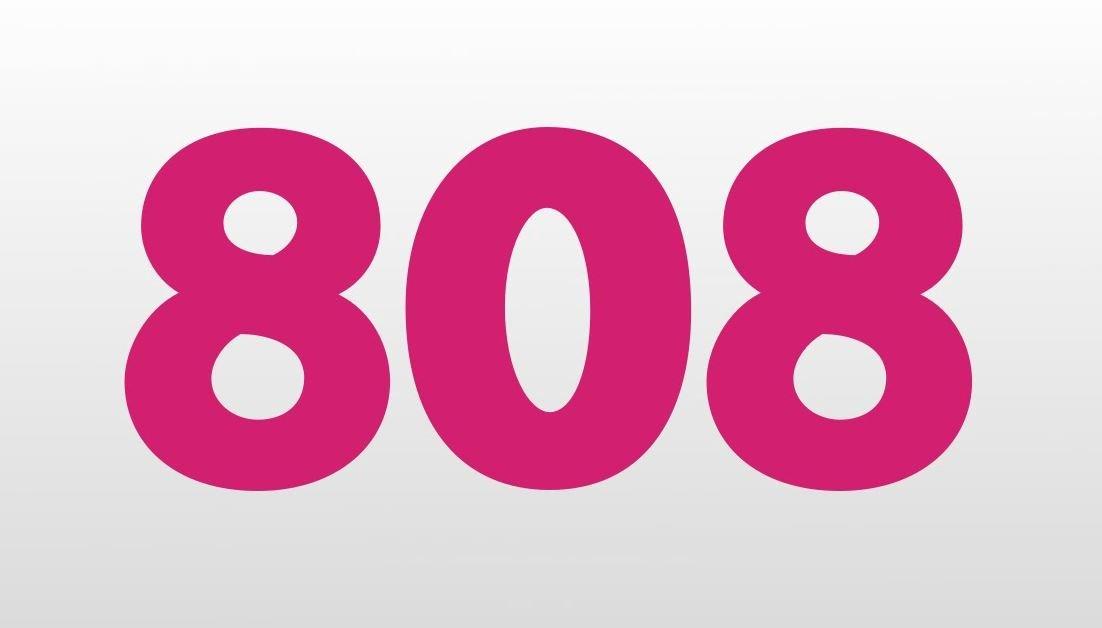 El número angelical 808