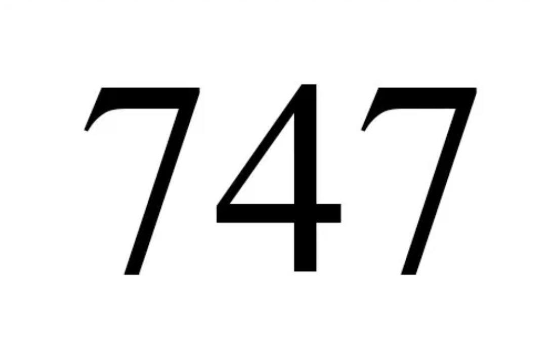 El número angelical 747