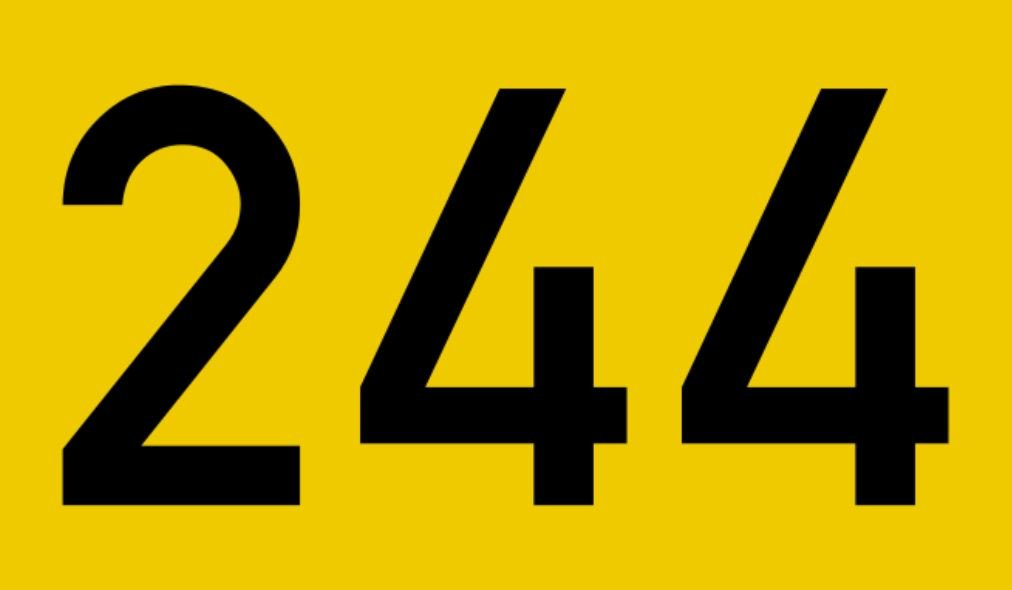El número angelical 244