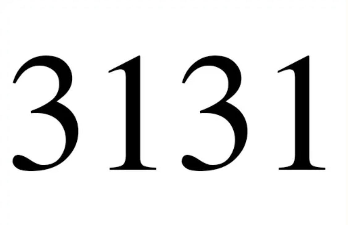 El número angelical 3131