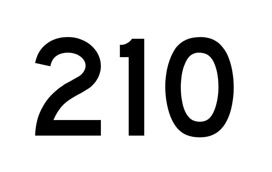El número angelical 210