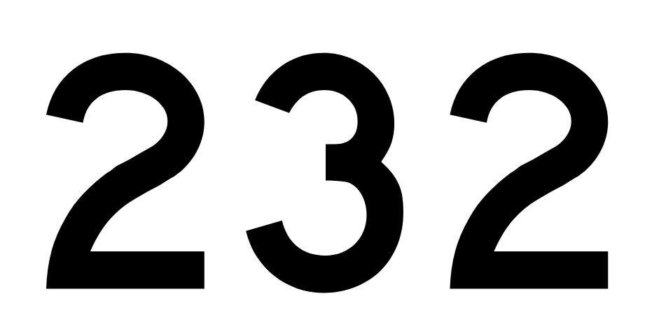 El número angelical 232