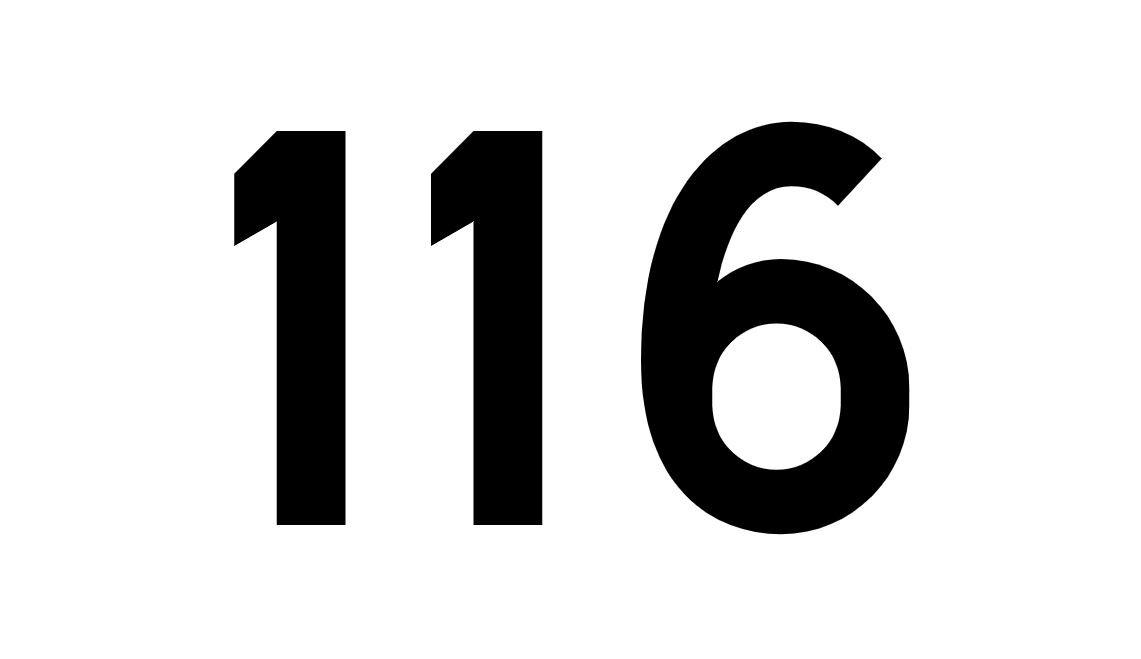 El número angelical 116
