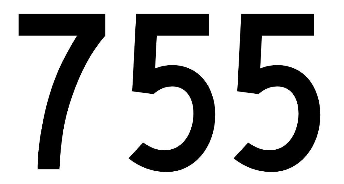 El número angelical 755