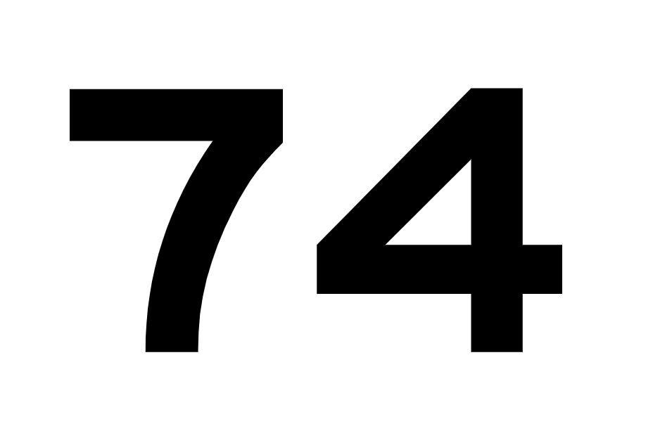 El número angelical 74