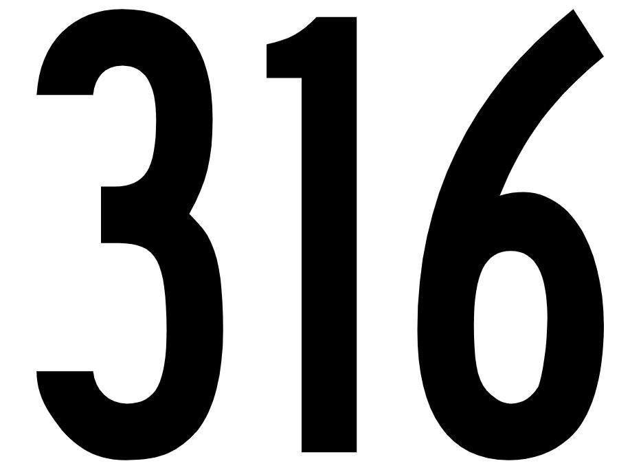 El número angelical 316