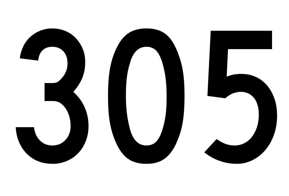 El número angelical 305