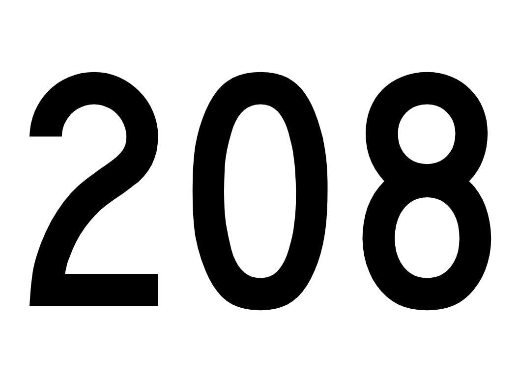 El número angelical 208