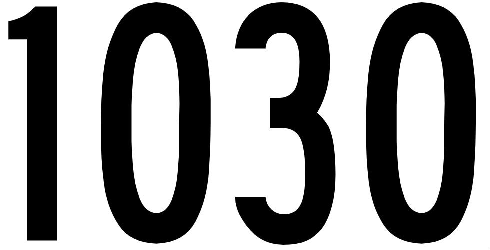 El número angelical 1030